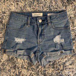PacSun cuffed jean shorts!